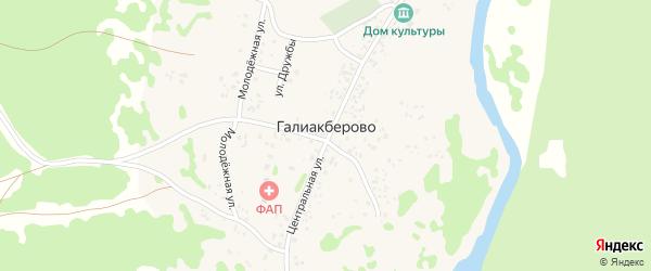 Улица Дружбы на карте деревни Галиакберово с номерами домов