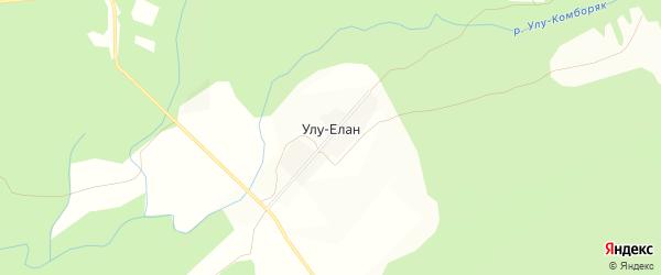 Карта деревни Улу-Елана в Башкортостане с улицами и номерами домов