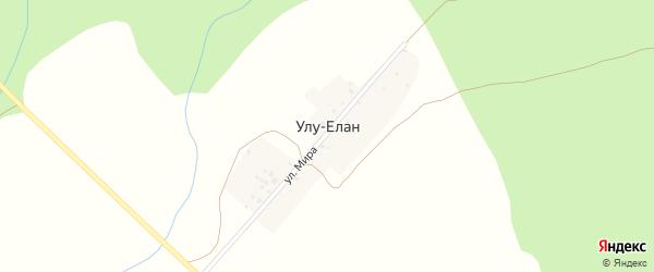 Улица Мира на карте деревни Улу-Елана с номерами домов