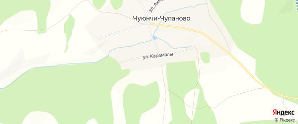 Карта села Чуюнчи-Чупаново в Башкортостане с улицами и номерами домов