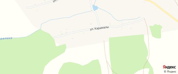 Улица Карамалы на карте села Чуюнчи-Чупаново с номерами домов