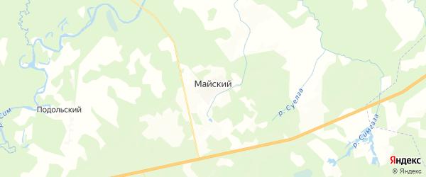 Карта Майского сельсовета республики Башкортостан с районами, улицами и номерами домов