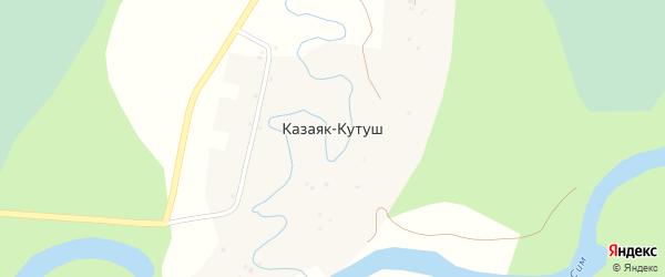 Заречная улица на карте деревни Казаяка-Кутуша с номерами домов
