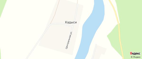 Центральная улица на карте деревни Кадыси с номерами домов