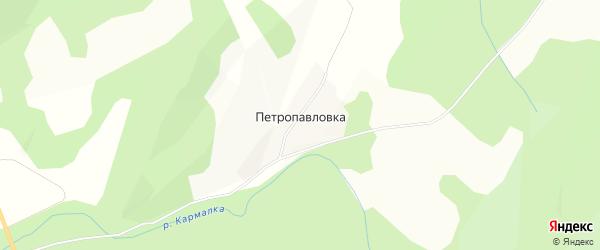 Карта деревни Петропавловки в Башкортостане с улицами и номерами домов