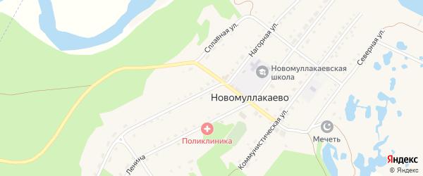 Нагорная улица на карте села Новомуллакаево с номерами домов