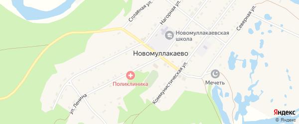 Улица Ленина на карте села Новомуллакаево с номерами домов