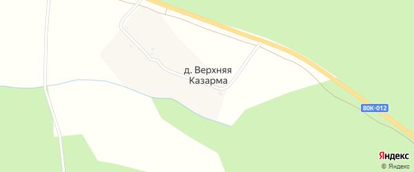 Улица Ирикова на карте деревни Верхней Казармы с номерами домов