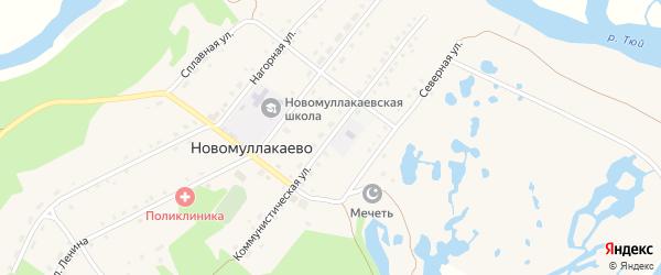 Коммунистическая улица на карте села Новомуллакаево с номерами домов