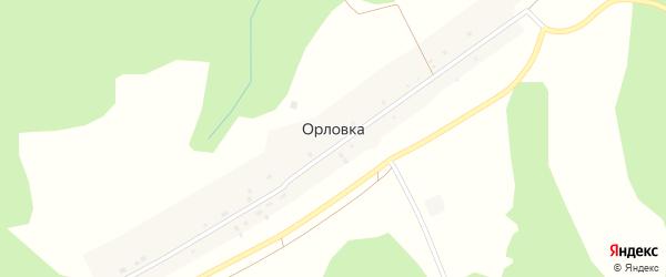 Сухоязовская улица на карте деревни Орловки с номерами домов