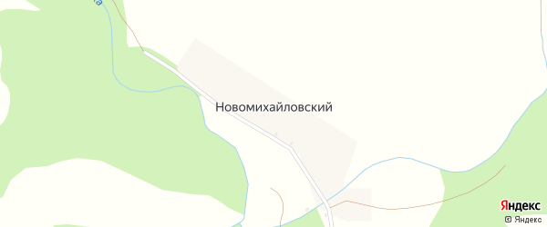 Центральная улица на карте деревни Новомихайловского с номерами домов
