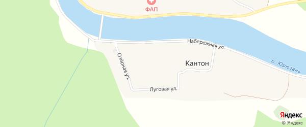 Луговая улица на карте деревни Кантона с номерами домов