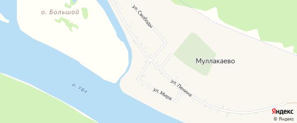 Улица Мира на карте деревни Муллакаево с номерами домов