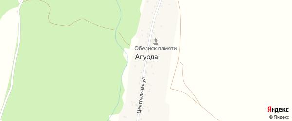 Центральная улица на карте деревни Агурды с номерами домов