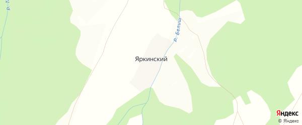 Карта деревни Яркинского в Башкортостане с улицами и номерами домов