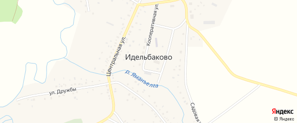 Центральная улица на карте деревни Идельбаково с номерами домов