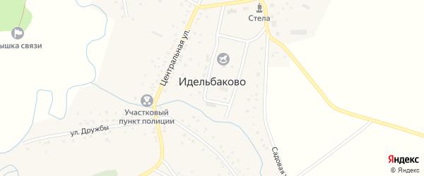 Улица Кусакова на карте деревни Идельбаково с номерами домов