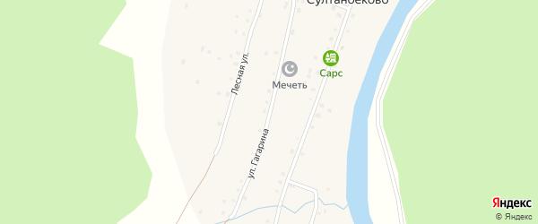 Улица Гагарина на карте деревни Султанбеково с номерами домов