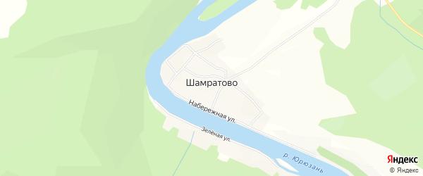 Карта деревни Шамратово в Башкортостане с улицами и номерами домов