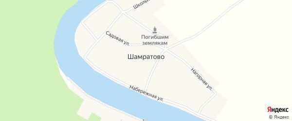 Школьная улица на карте деревни Шамратово с номерами домов