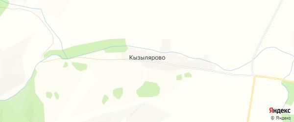 Карта деревни Кызылярово в Башкортостане с улицами и номерами домов