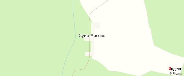 Центральная улица на карте деревни Сур-Аисово с номерами домов
