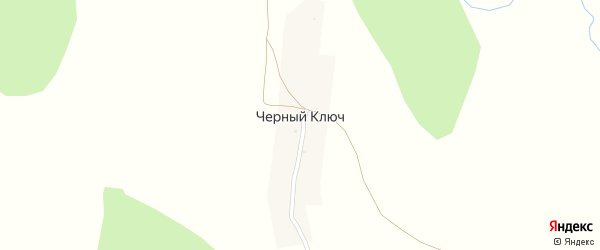 Ключевая улица на карте деревни Черного Ключа с номерами домов