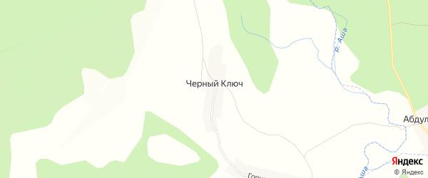 Карта деревни Черного Ключа в Башкортостане с улицами и номерами домов