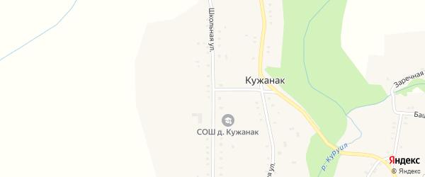 Школьная улица на карте деревни Кужанака с номерами домов