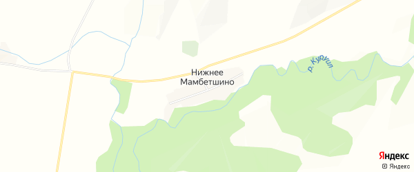Карта деревни Нижнее Мамбетшино в Башкортостане с улицами и номерами домов