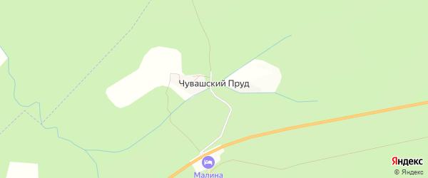 Карта поселка Чувашского пруда в Челябинской области с улицами и номерами домов