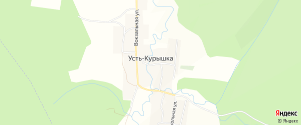 Карта поселка Усть-Курышки в Челябинской области с улицами и номерами домов