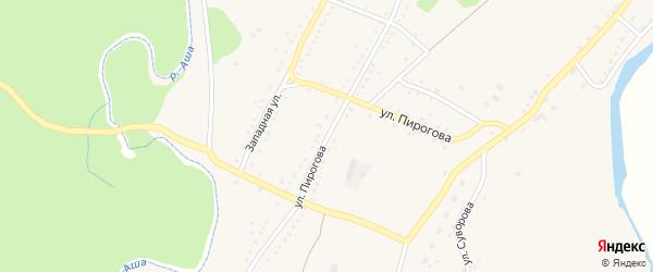 Улица Пирогова на карте Аши с номерами домов
