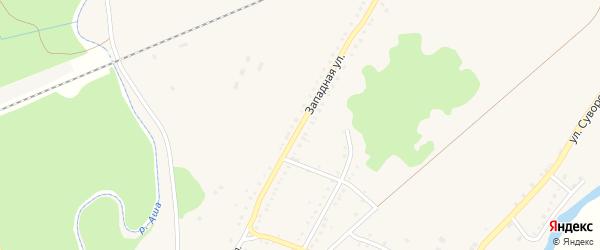 Западная улица на карте Аши с номерами домов