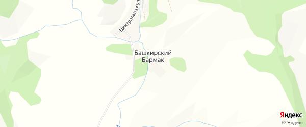 Карта деревни Башкирского Бармака в Башкортостане с улицами и номерами домов