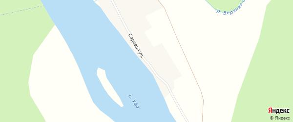Садовая улица на карте села Нижнего Суяна с номерами домов