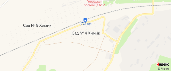 Сад СНТ 4 Химик на карте Аши с номерами домов
