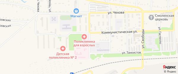 Улица Краснофлотцев на карте Аши с номерами домов
