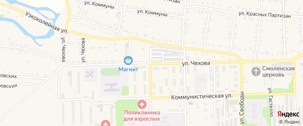 Улица Чехова на карте Аши с номерами домов