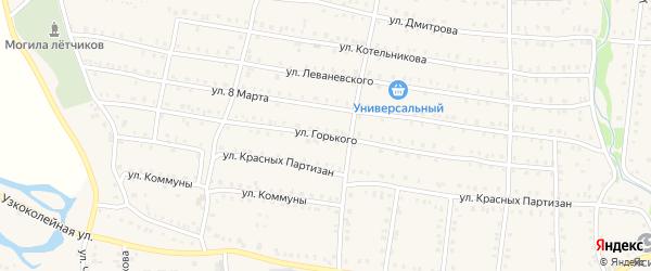 Улица Максима Горького на карте Аши с номерами домов