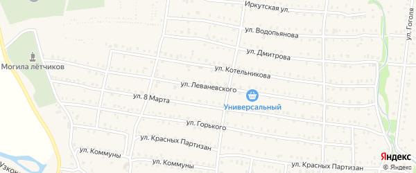 Улица Леваневского на карте Аши с номерами домов