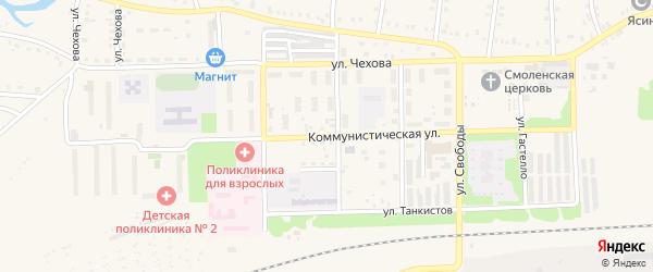 Коммунистическая улица на карте Аши с номерами домов