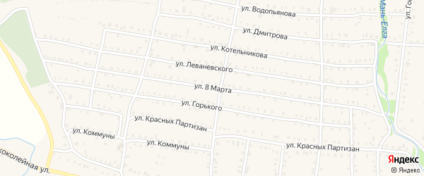 Улица 8 Марта на карте Аши с номерами домов