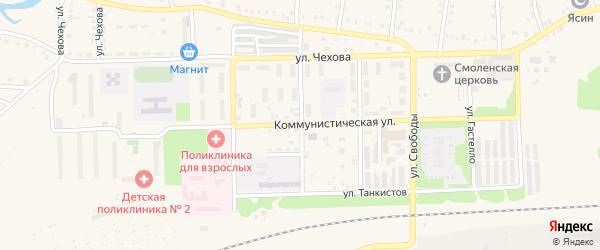 Улица 9 Января на карте Аши с номерами домов