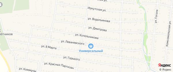 Улица Котельникова на карте Аши с номерами домов