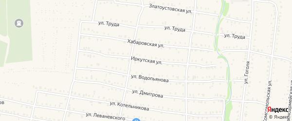 Иркутская улица на карте Аши с номерами домов
