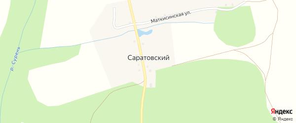 Саратовская улица на карте Саратовского хутора с номерами домов