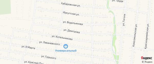 Улица Дмитрова на карте Аши с номерами домов
