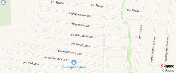 Улица Водопьянова на карте Аши с номерами домов