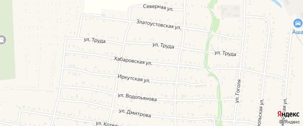Хабаровская улица на карте Аши с номерами домов